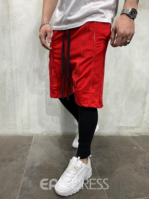Ericdress Lace-Up Loose Mens Sports Shorts