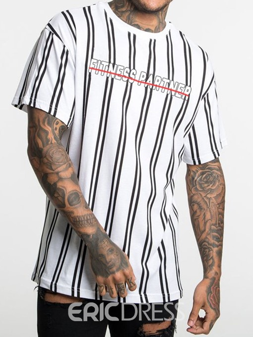 Ericdress Casual Round Neck Mens Loose T-shirt