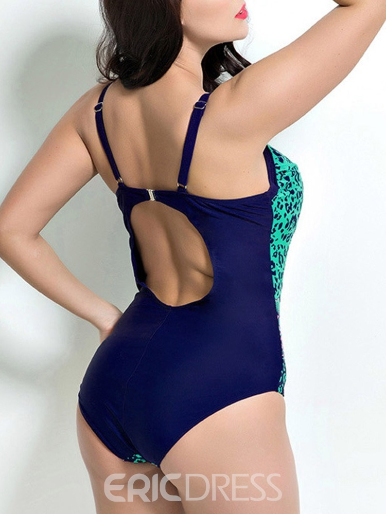 Ericdress Color Block Print Bowknot Swimwear