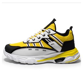 Ericdress Color Block Lace-Up Men's Running Sneakers