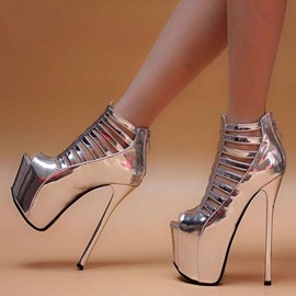 Ericdress PU Hollow Platform Stiletto Heel Women's Prom Shoes