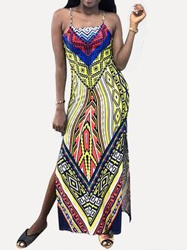 Ericdress Sleeveless Ankle-Length Split African Fashion Split Dress