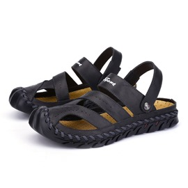 Ericdress PU Simple Hollow Men's Sandals
