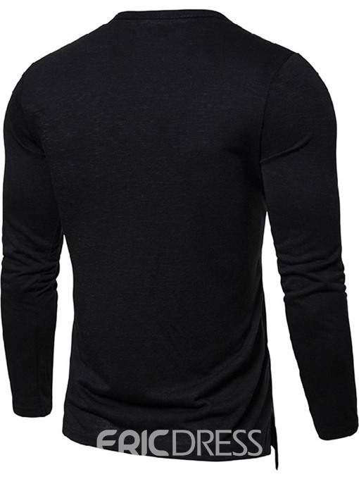 Ericdress V-Neck Plain Casual Slim Mens T-shirt