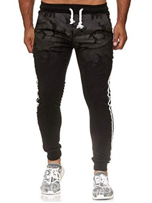 Ericdress Stripe Pocket Mens Lace-Up Casual Pants
