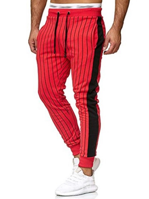 Ericdress Pocket Stripe Mens Casual Pants