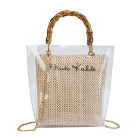 Ericdress Letter Knitted Tote Bag