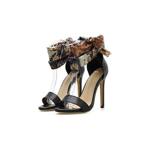 Ericdress Floral Stiletto Heel Heel Covering Lace-Up Women's Sandals