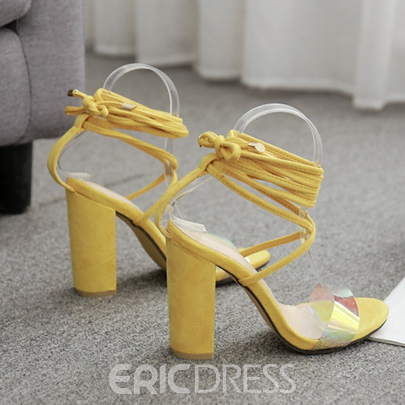 Ericdress Open Toe Chunky Heel Cross Strap Women's Sandals