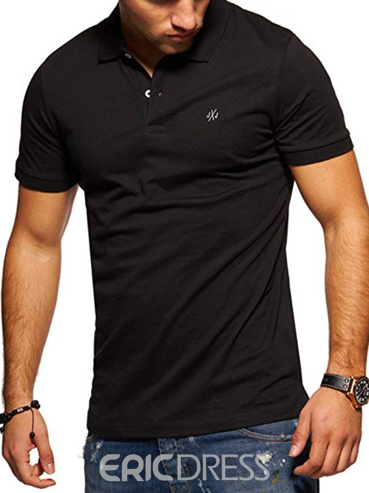 Ericdress Casual Standard Button Mens Polo Shirt