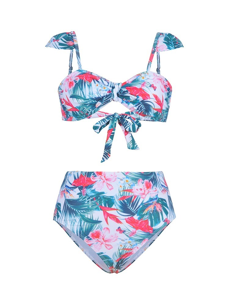 Ericdress Print Bowknot Floral Sexy Swimsuit