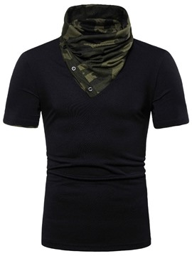 Ericdress Camouflage Heap Collar Button Loose Mens T-shirt