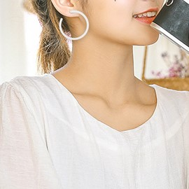 Ericdress Fashion Plain Hoop Earrings