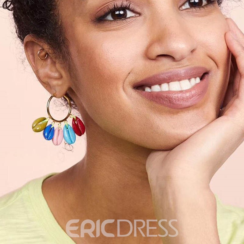 Ericdress Alloy Color Conch Earrings