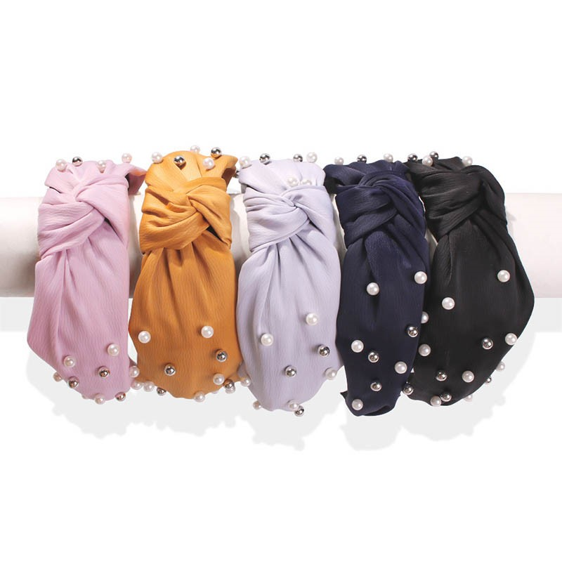 Ericdress Pearl Pure Colour Hairband Hair Accessories