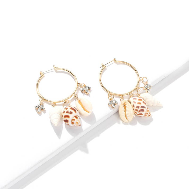 Ericdress Diamante Sweet Conch Earrings