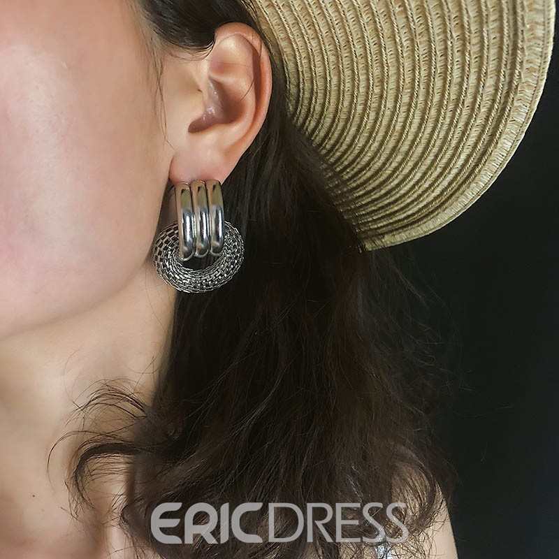 Ericdress Plain Hoop Party Earrings