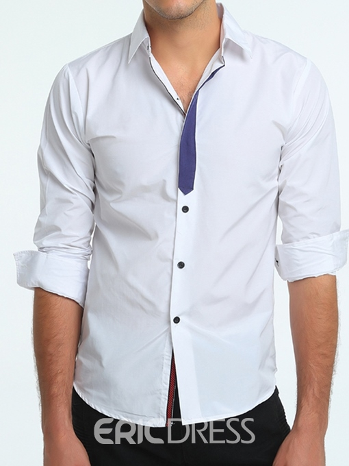 Ericdress Lapel Button Mens Single-Breasted Shirt