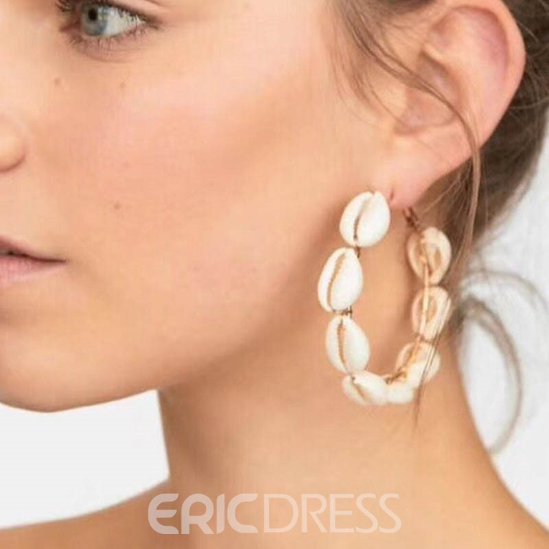 Ericdress Conch Hoop Alloy Earrings