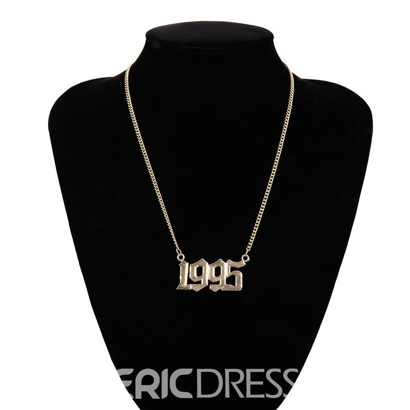 Ericdress Pendant 1995 Number Female Necklaces