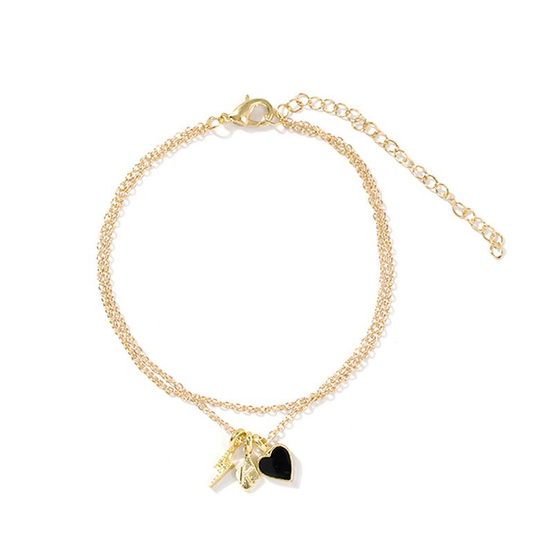 Ericdress Female Heart E-Plating Anklet