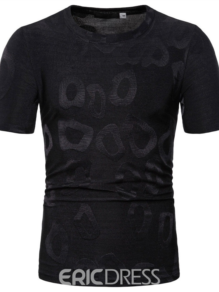 Ericdress Casual Print Round Neck Mens T-shirt