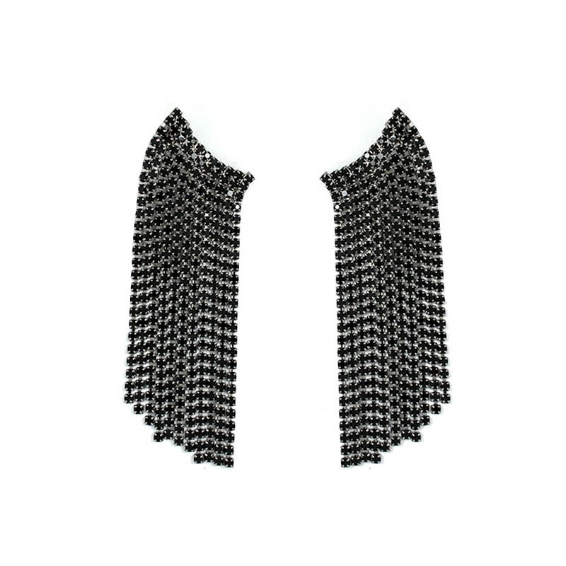 Ericdress Plain Diamante Fashion Earrings
