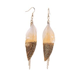 Ericdress Feather Alloy Leaf Earrings