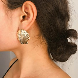 Ericdress Sweet Plain Shell Shape Earrings