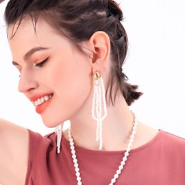 Ericdress Tassel Vintage Pearl Prom Earrings