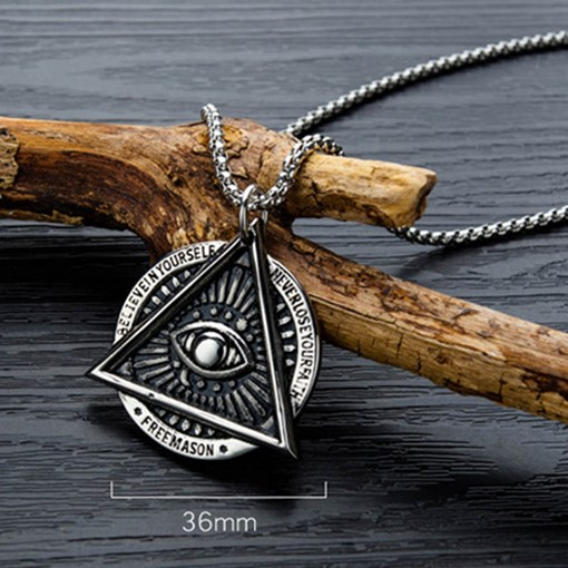 Ericdress Geometric Pendant Eye Male Necklaces
