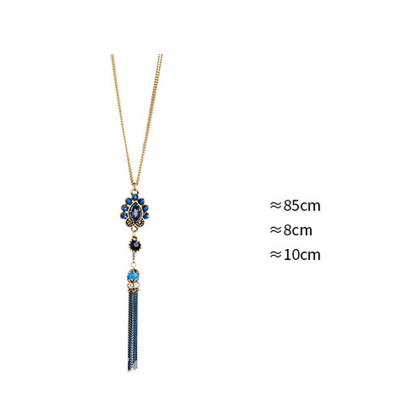 Ericdress Tassels Beads Pendant Necklace