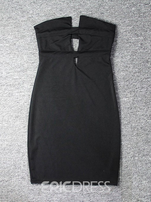Ericdress Sleeveless Hollow Above Knee Plain Mid Waist Dress