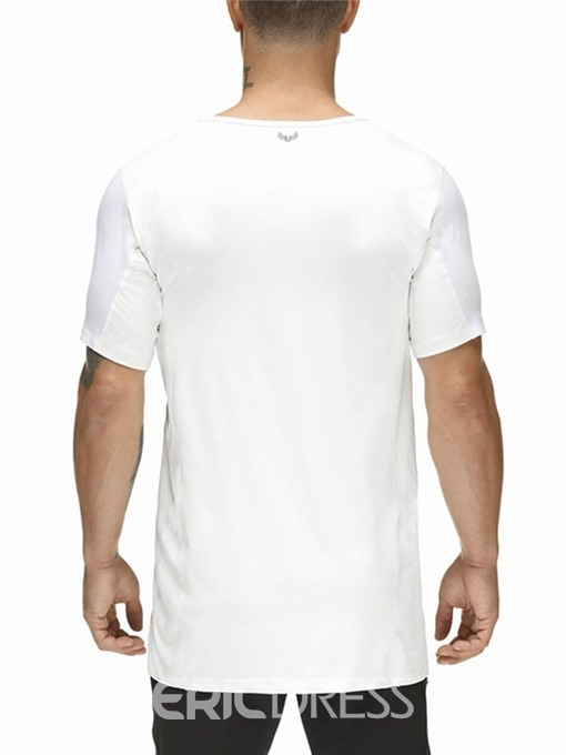 Ericdress Round Neck Casual Camouflage Mens Loose T-shirt