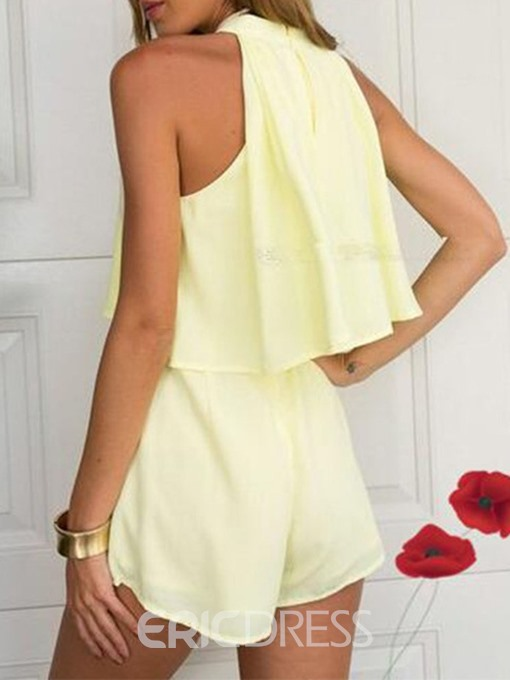 Ericdress Dressy Skinny Formal Plain Vest And Shorts Two Piece Sets