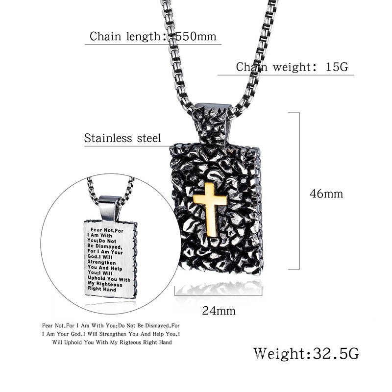 Ericdress Hip Hop Pendant Cross Male Necklaces