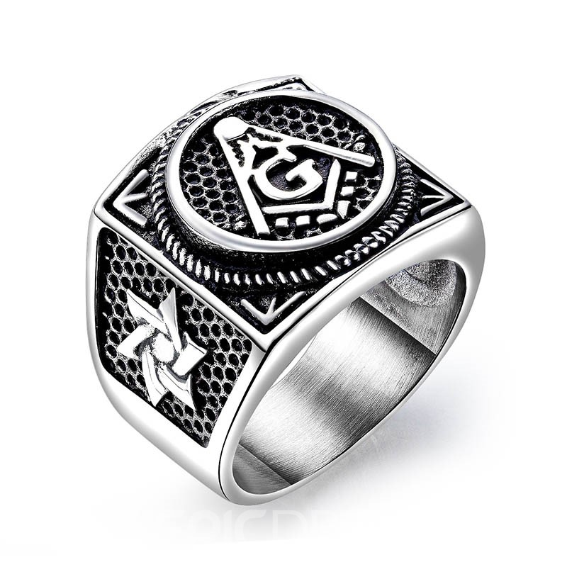 Ericdress Titanium Steel Vintage Men Ring