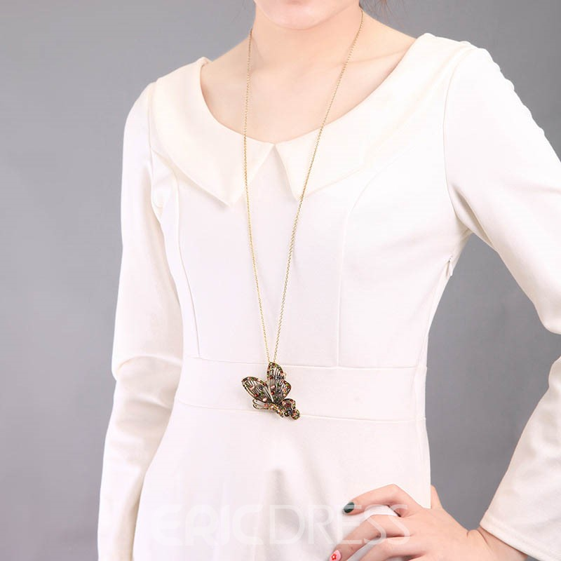Ericdress Sweet Diamante Female Sweater Chain