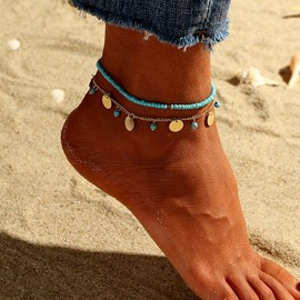 Ericdress Blue Female Round Fashion Anklet