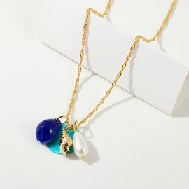Ericdress Blue Pendant Necklace