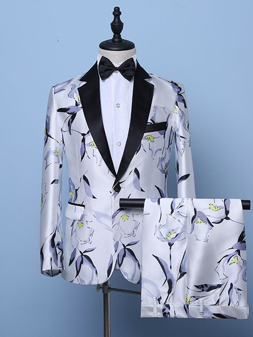 Ericdress Floral One Button Fashion Mens Dress Suit