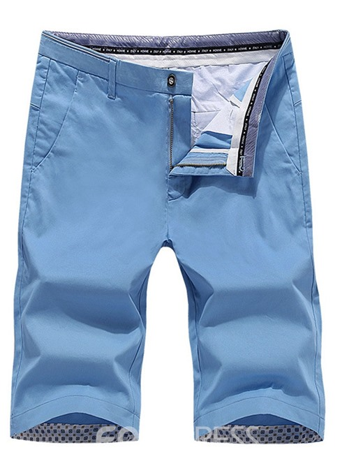 Ericdress Straight Pocket Thin Summer Mens Mid Waist Casual Pants