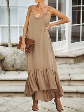 Ericdress Sleeveless Backless Ankle-Length Plain Casual Dress