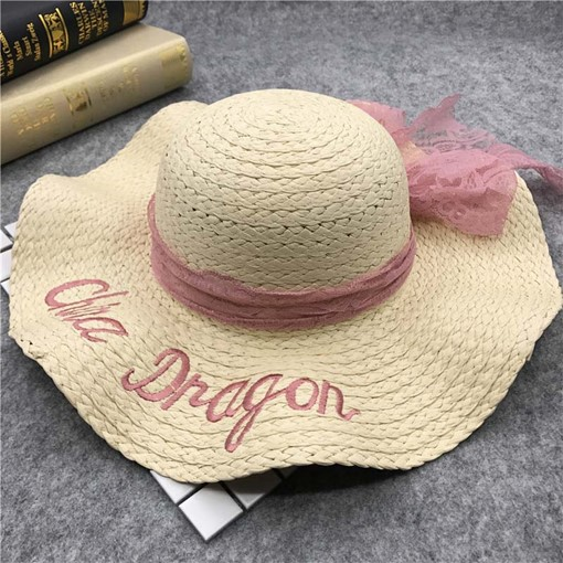 Ericdress Pink Sweet Straw Hat