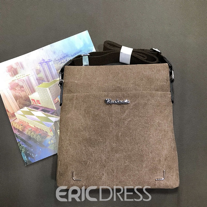 Ericdress PU Thread Plain Rectangle Crossbody Bag