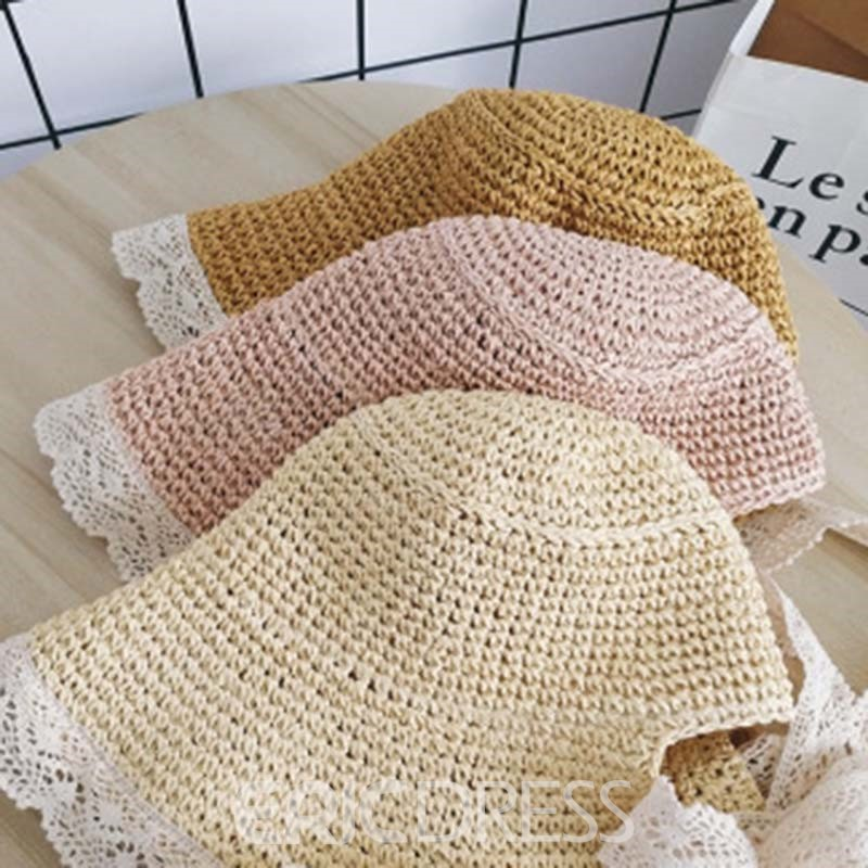 Ericdress Lace Straw Hollow Summer Hats