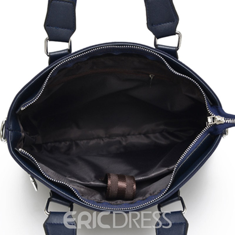 Ericdress PU Plain Belt-Decorated Square Tote Bag