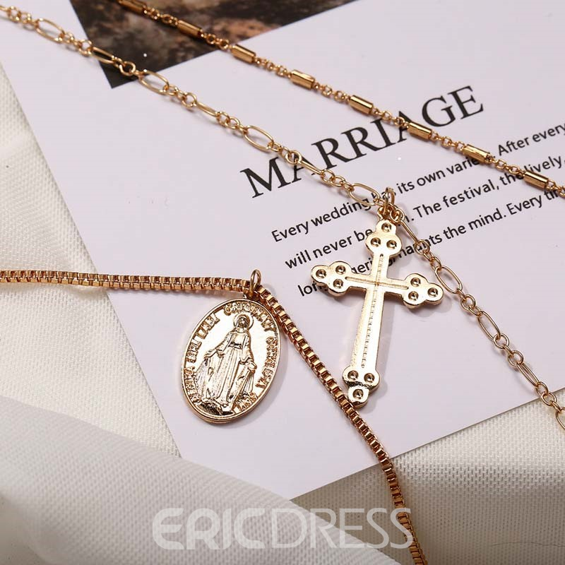 Ericdress E-Plating Cross Unisex Necklace