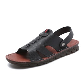 Ericdress PU Open Toe Slip-On Hollow Men's Sandals