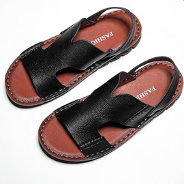 Ericdress PU Slip-On Open Toe Men's Simple Sandals